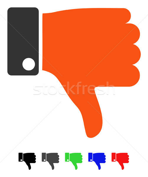 Thumb Down Flat Icon Stock photo © ahasoft