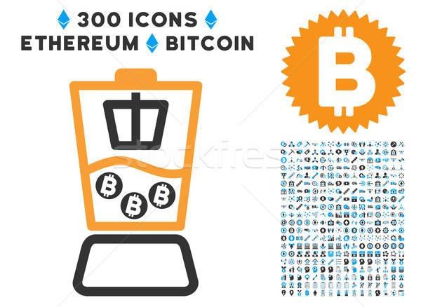Bitcoinの ブレンダー アイコン スマート 契約 ストックフォト © ahasoft
