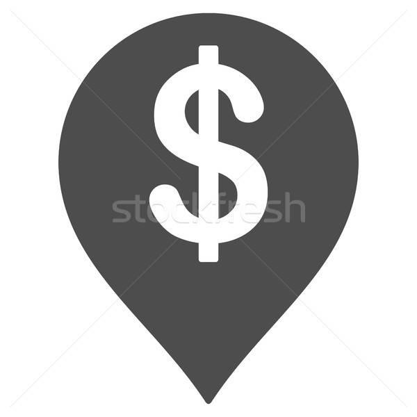 American Dollar Marker Flat Icon Stock photo © ahasoft
