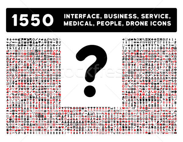 вопросе икона больше интерфейс бизнеса инструменты Сток-фото © ahasoft