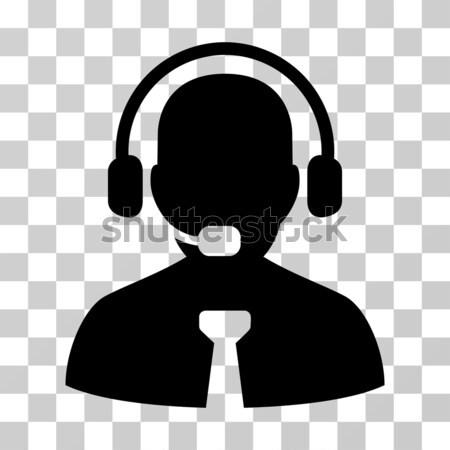 Centro de llamadas jefe icono estilo gráfico gris Foto stock © ahasoft