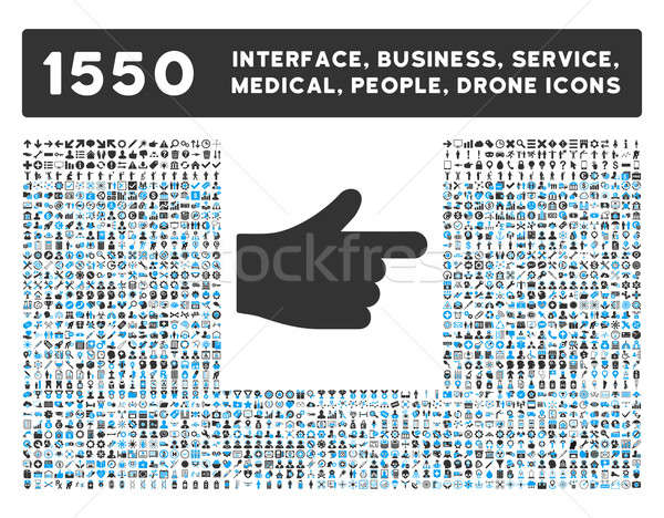 Index Icon and More Interface, Business, Tools, People, Medical, Awards Flat Glyph Icons Stock photo © ahasoft