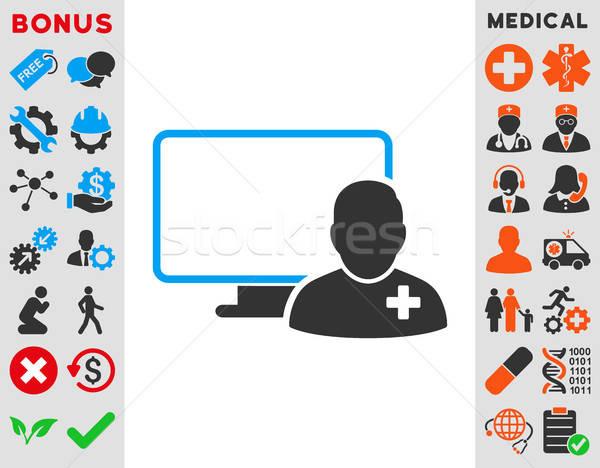Online orvos ikon vektor stílus szimbólum Stock fotó © ahasoft