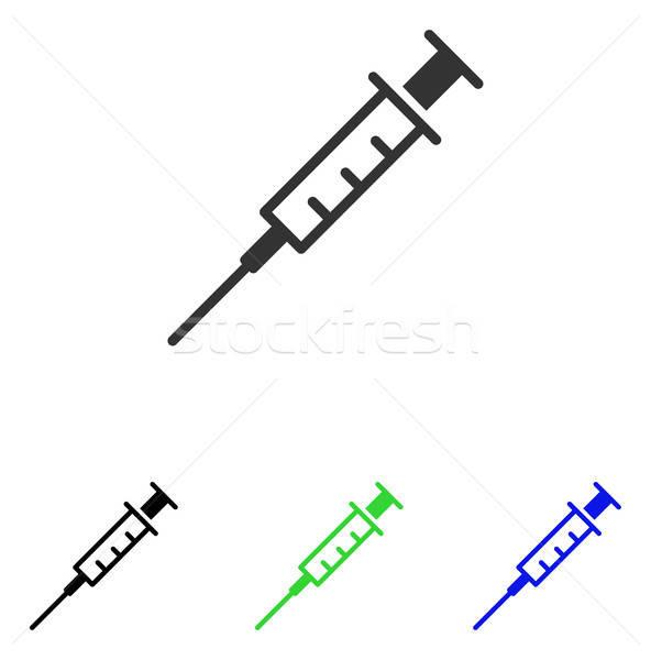 Vacío jeringa vector icono ilustración estilo Foto stock © ahasoft