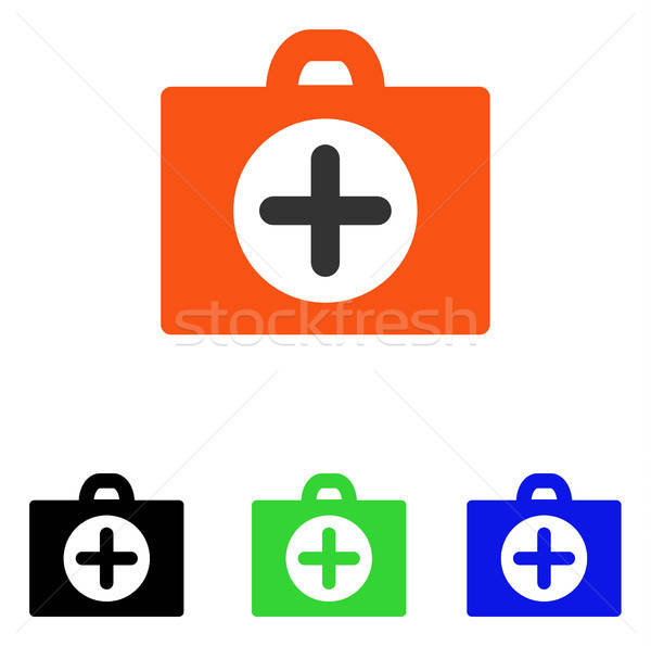 First Aid Flat Vector Icon vector illustration © Victor