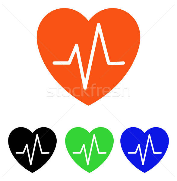 Heart EKG Flat Vector Icon Stock photo © ahasoft