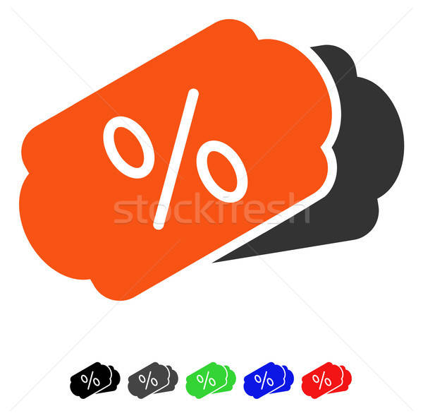 Discount Coupons Flat Icon Stock photo © ahasoft