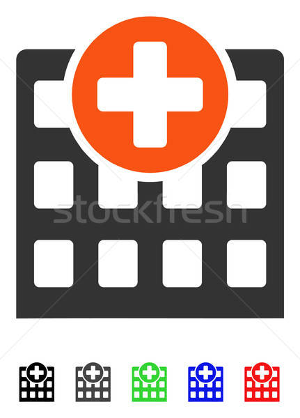 Hospital icono color negro gris Foto stock © ahasoft