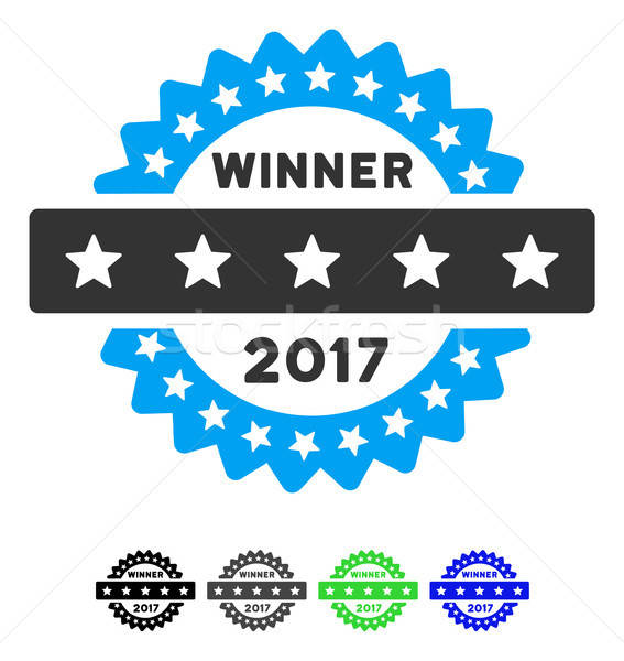 2017 Winner Stamp Flat Icon Stock photo © ahasoft