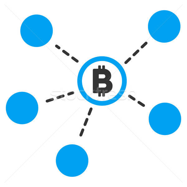 Bitcoin Network Flat Icon Stock photo © ahasoft