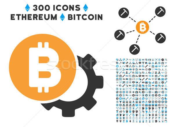 Bitcoin lehetőségek viselet ikon okos szerződés Stock fotó © ahasoft