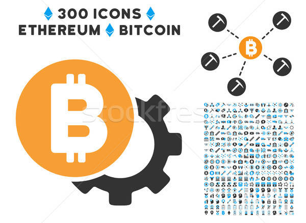 Bitcoin opties versnelling icon smart contract Stockfoto © ahasoft