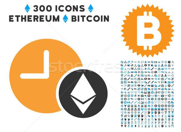 Kredi saat ikon bitcoin akıllı sözleşme Stok fotoğraf © ahasoft