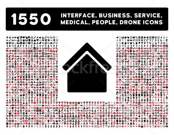 Home Icon and More Interface, Business, Tools, People, Medical, Awards Flat Glyph Icons Stock photo © ahasoft