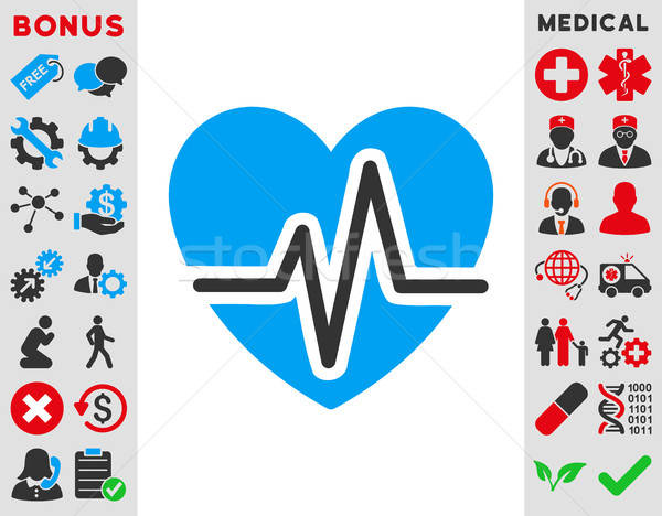 Heart Diagram Icon Stock photo © ahasoft