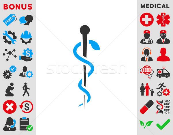 Medische naald icon vector stijl symbool Stockfoto © ahasoft