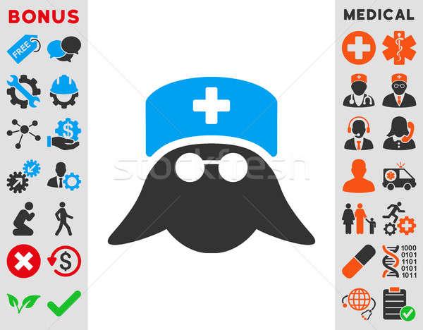 Medical Nurse Head Icon Stock photo © ahasoft