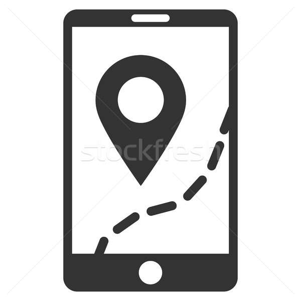 Mobile Map Navigation Flat Raster Icon Stock photo © ahasoft