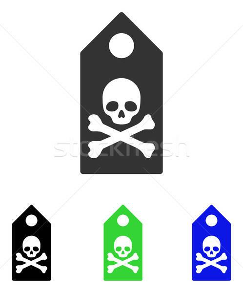 śmierci ocena wektora ikona ilustracja stylu Zdjęcia stock © ahasoft
