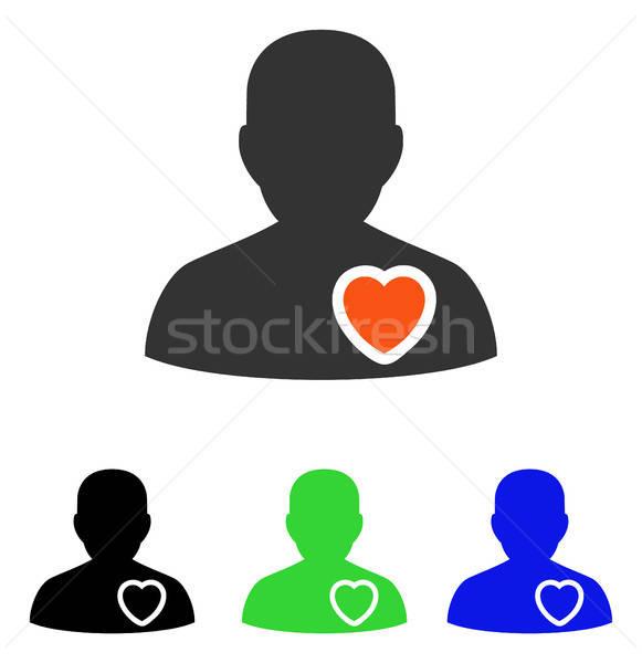 Stok fotoğraf: Hasta · kalp · vektör · ikon · örnek · stil