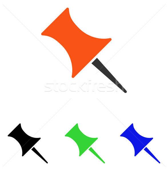 Pin vektör ikon resim yazı örnek stil Stok fotoğraf © ahasoft