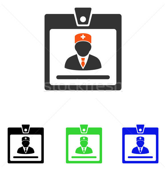 Doctor Badge Flat Vector Icon Stock photo © ahasoft