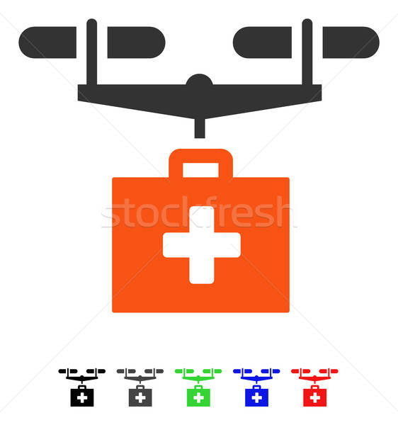 Drug Drone Delivery Flat Icon Stock photo © ahasoft