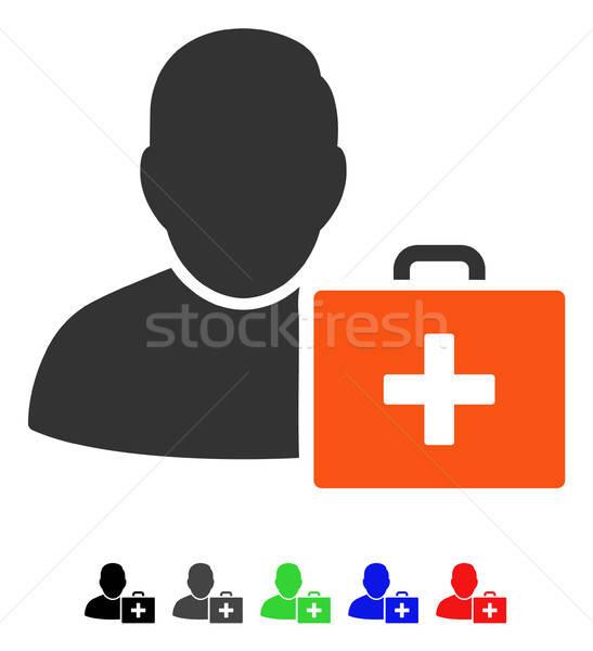 Eerste hulp man icon vector gekleurd kleur Stockfoto © ahasoft