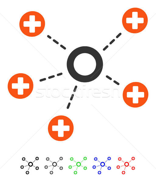 Medical Connections Flat Icon Stock photo © ahasoft
