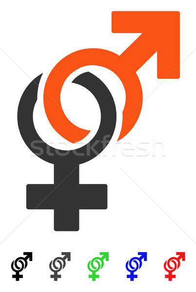 Sexual Symbols Flat Icon Stock photo © ahasoft