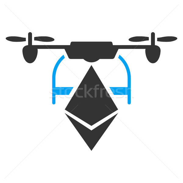 Ethereum Drone Flat Icon Stock photo © ahasoft