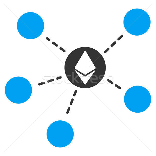 Ethereum Network Flat Icon Stock photo © ahasoft