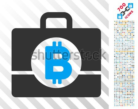 Bitcoin Accounting Case Flat Icon with Stock photo © ahasoft