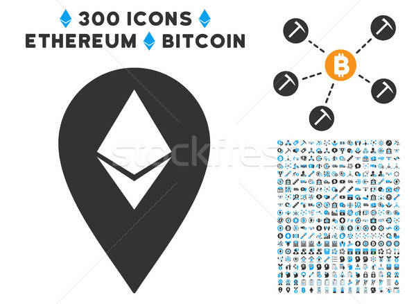 Ethereum Marker Flat Icon with Stock photo © ahasoft
