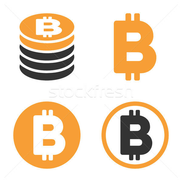 Bitcoin Vector Icon Set Stock photo © ahasoft