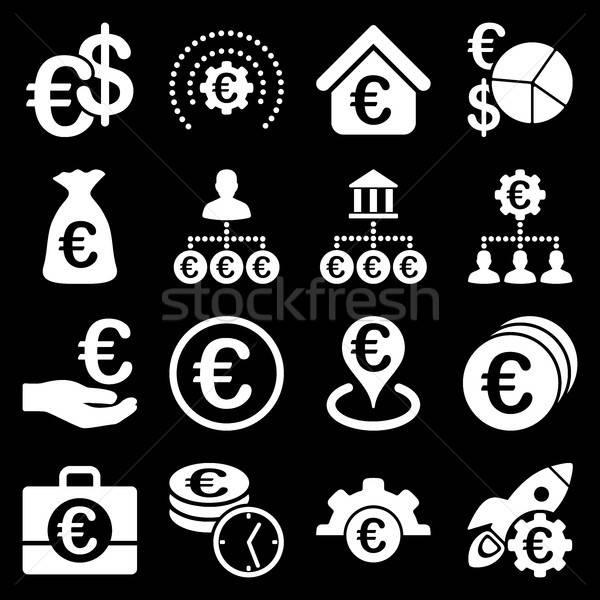 Zdjęcia stock: Euro · bankowego · działalności · usługi · narzędzia · ikona