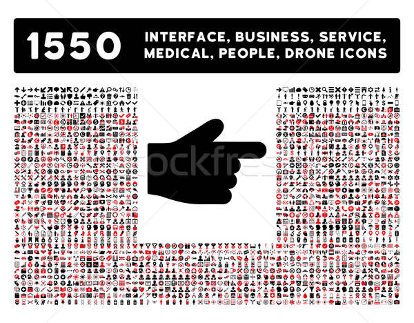 Index Finger Icon and More Interface, Business, Tools, People, Medical, Awards Flat Vector Icons Stock photo © ahasoft