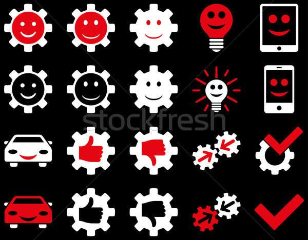 Herramientas sonrisa artes iconos estilo Foto stock © ahasoft