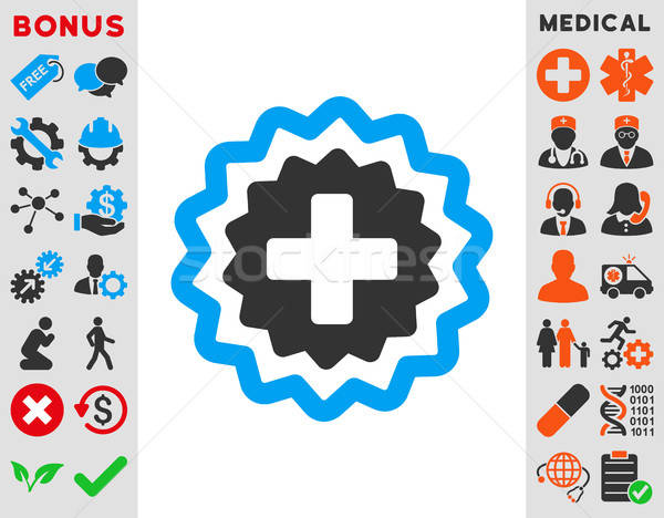 Medical Cross Stamp Icon Stock photo © ahasoft