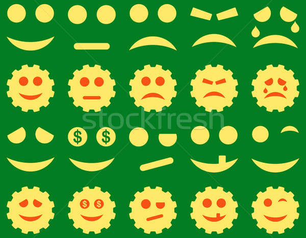 инструменты передач улыбается иконки набор Сток-фото © ahasoft
