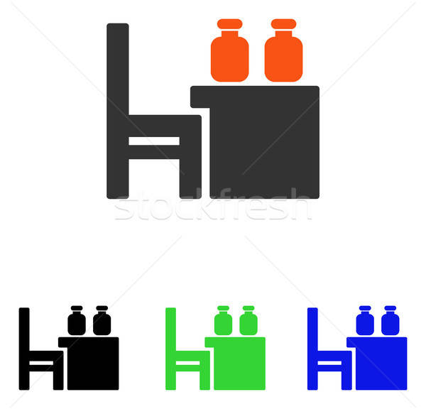 Apothecary Table Flat Vector Icon Stock photo © ahasoft