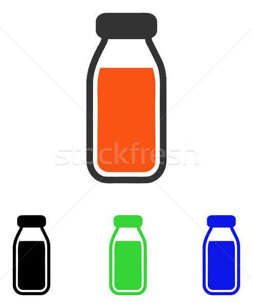 Stockfoto: Vol · fles · vector · icon · illustratie · stijl