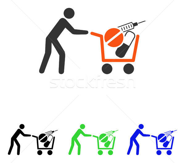 Medical Shopping Flat Vector Icon Stock photo © ahasoft
