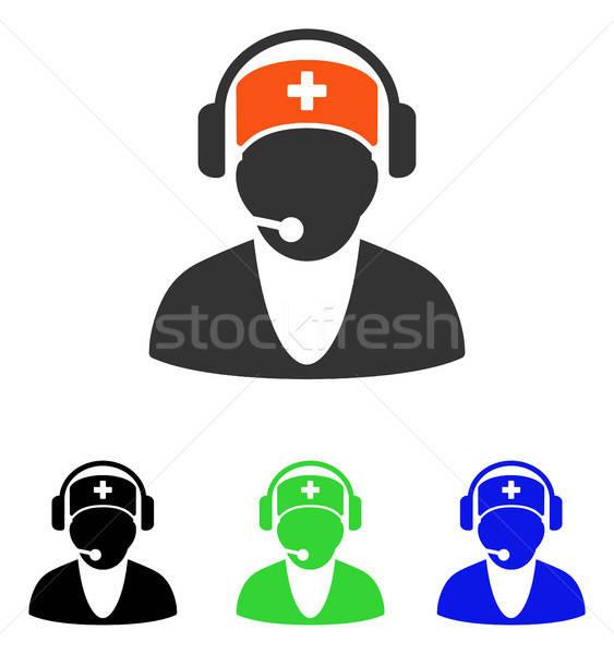 Hastane resepsiyonist vektör ikon örnek stil Stok fotoğraf © ahasoft