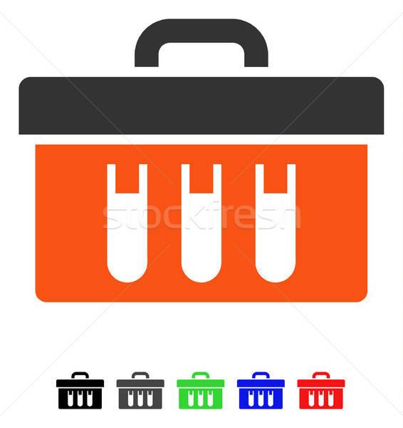 Analysis Tubes Case Flat Icon Stock photo © ahasoft