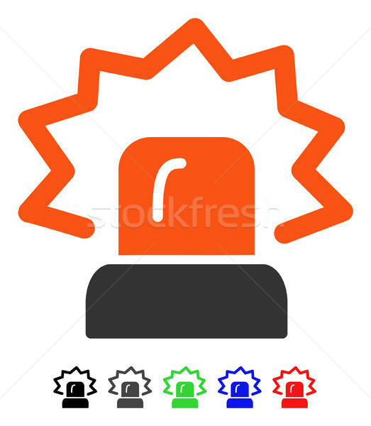 Alarme ícone vetor cor preto Foto stock © ahasoft