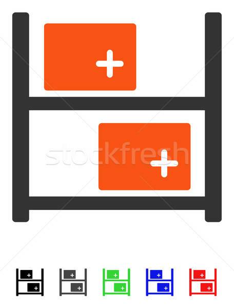 Orvosi raktár ikon vektor színes szín Stock fotó © ahasoft