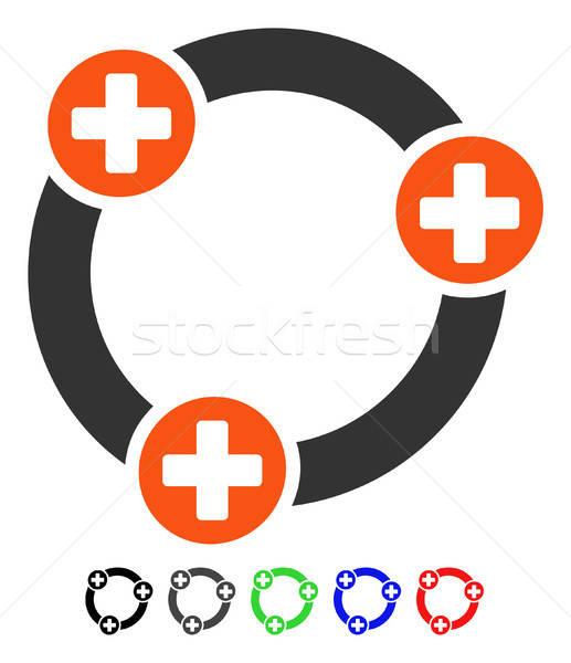 Medici collaborazione icona vettore colorato colore Foto d'archivio © ahasoft