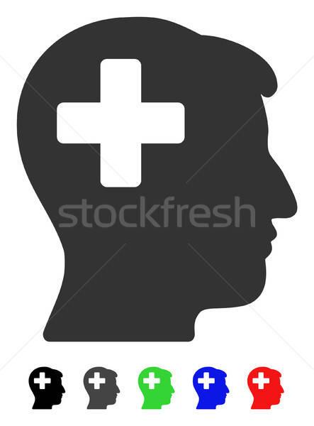 Plus Man Head Flat Icon Stock photo © ahasoft