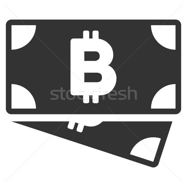 Bitcoin наличных икона вектора применение Сток-фото © ahasoft
